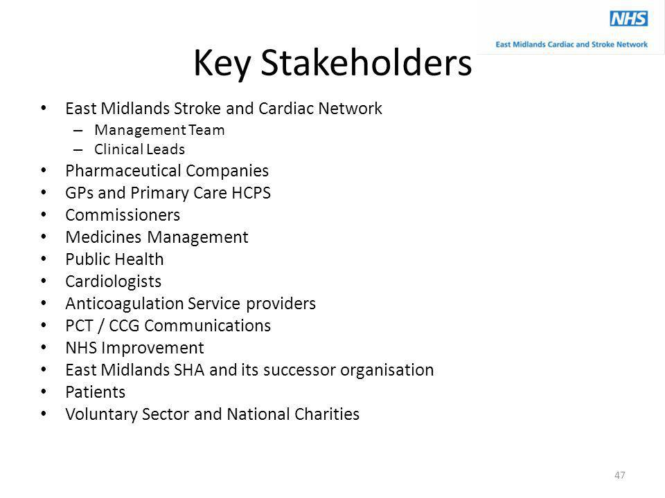 Key Stakeholders East Midlands Stroke and Cardiac Network