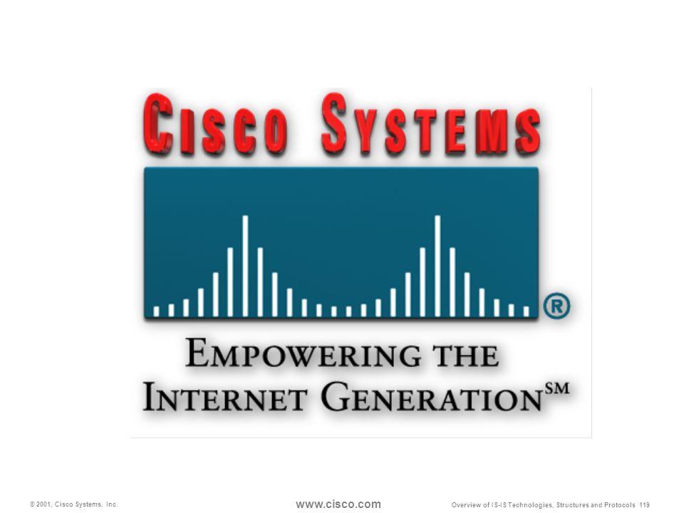 www.cisco.com © 2001, Cisco Systems, Inc.
