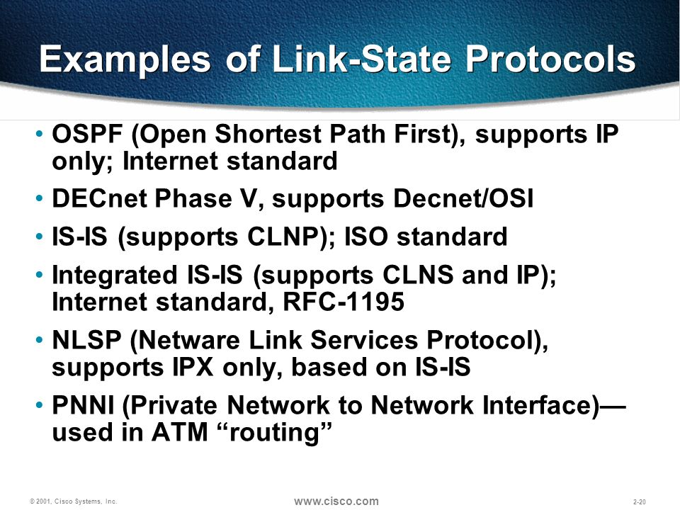 Examples of Link-State Protocols