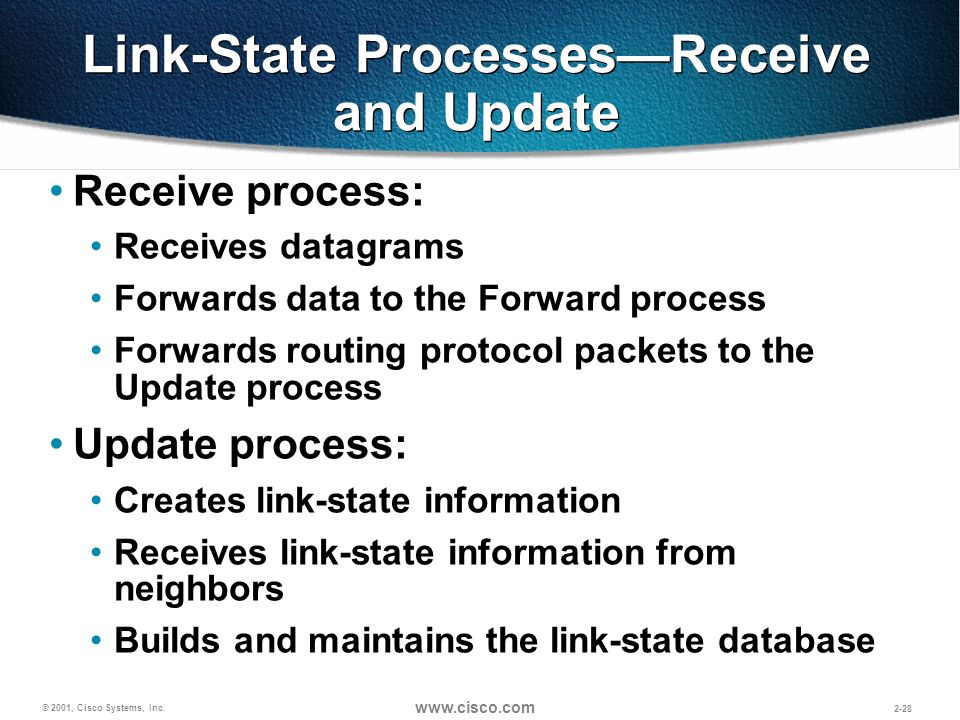 Link-State Processes—Receive and Update