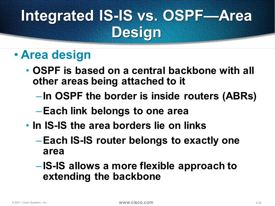 Integrated IS-IS vs. OSPF—Area Design