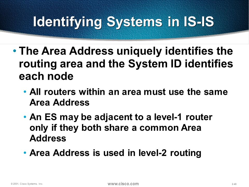 Identifying Systems in IS-IS