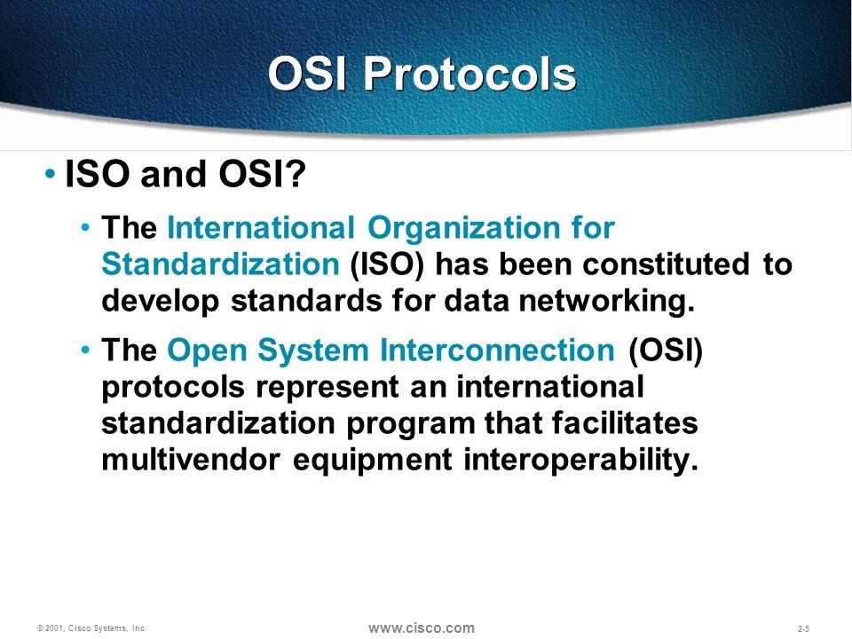 OSI Protocols ISO and OSI