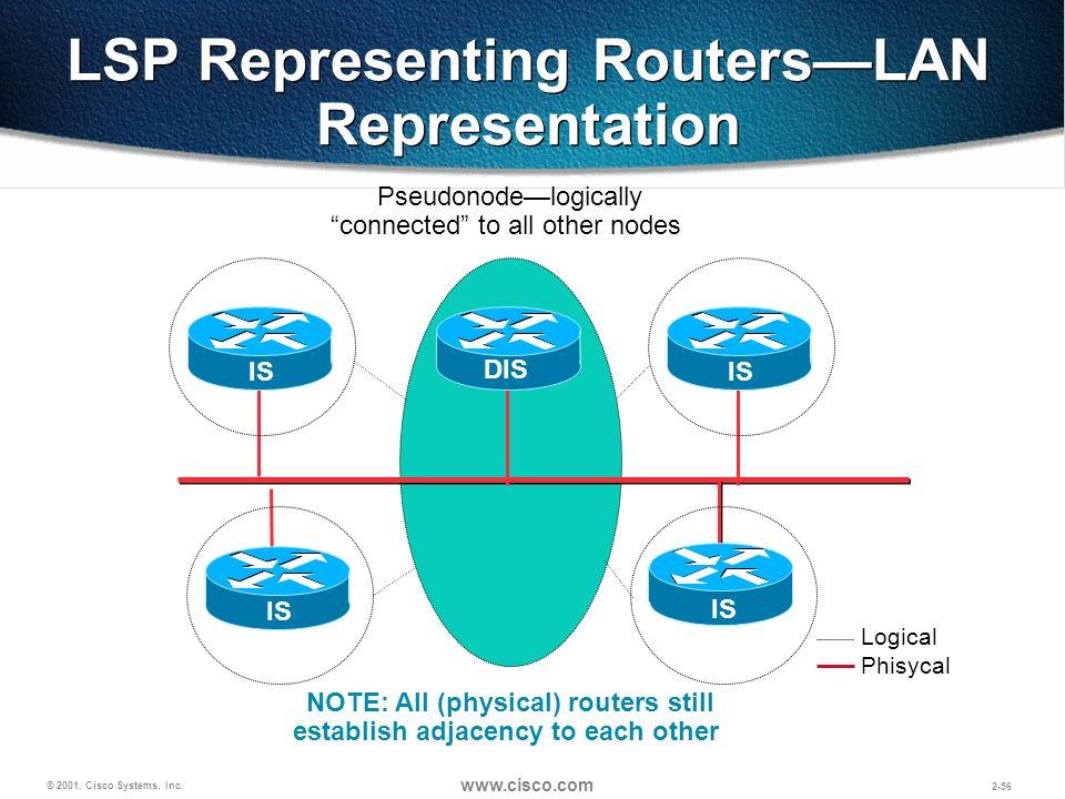 LSP Representing Routers—LAN Representation