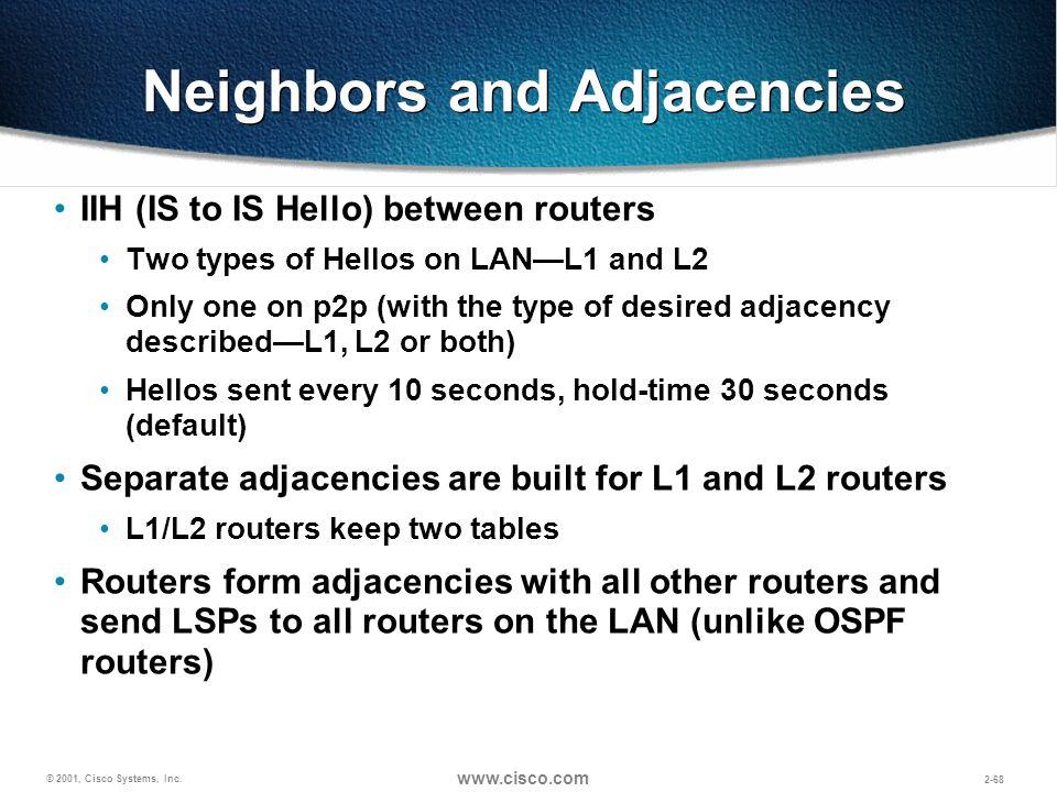 Neighbors and Adjacencies