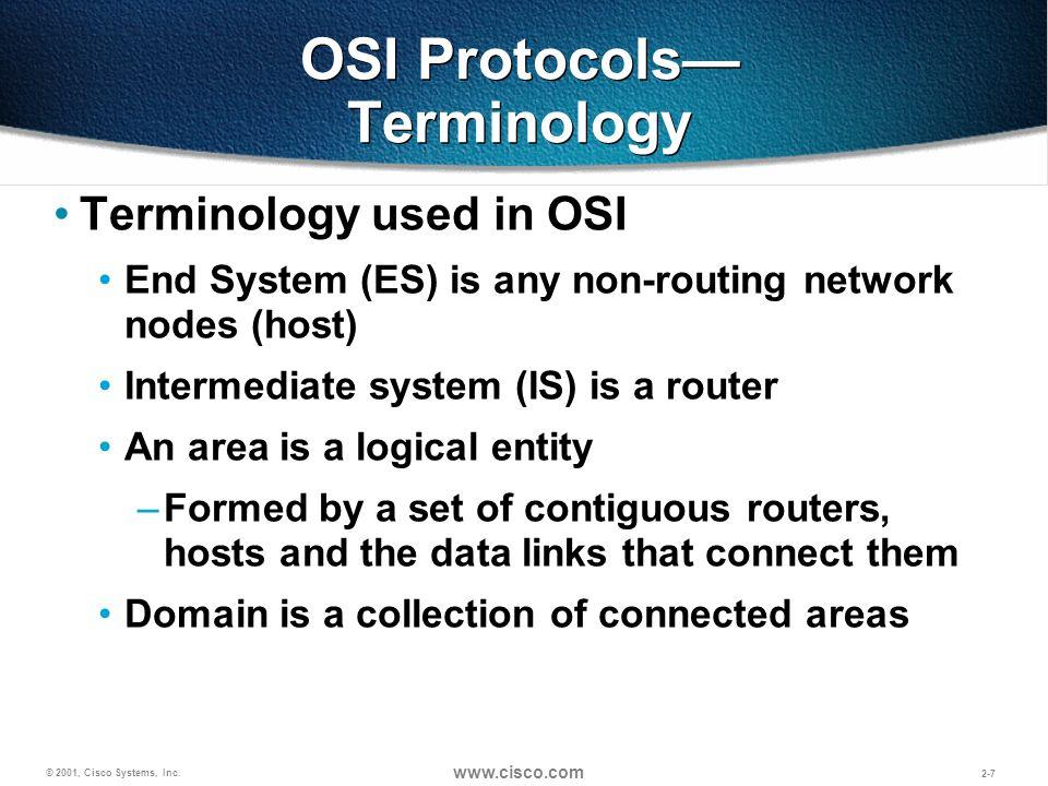 OSI Protocols— Terminology