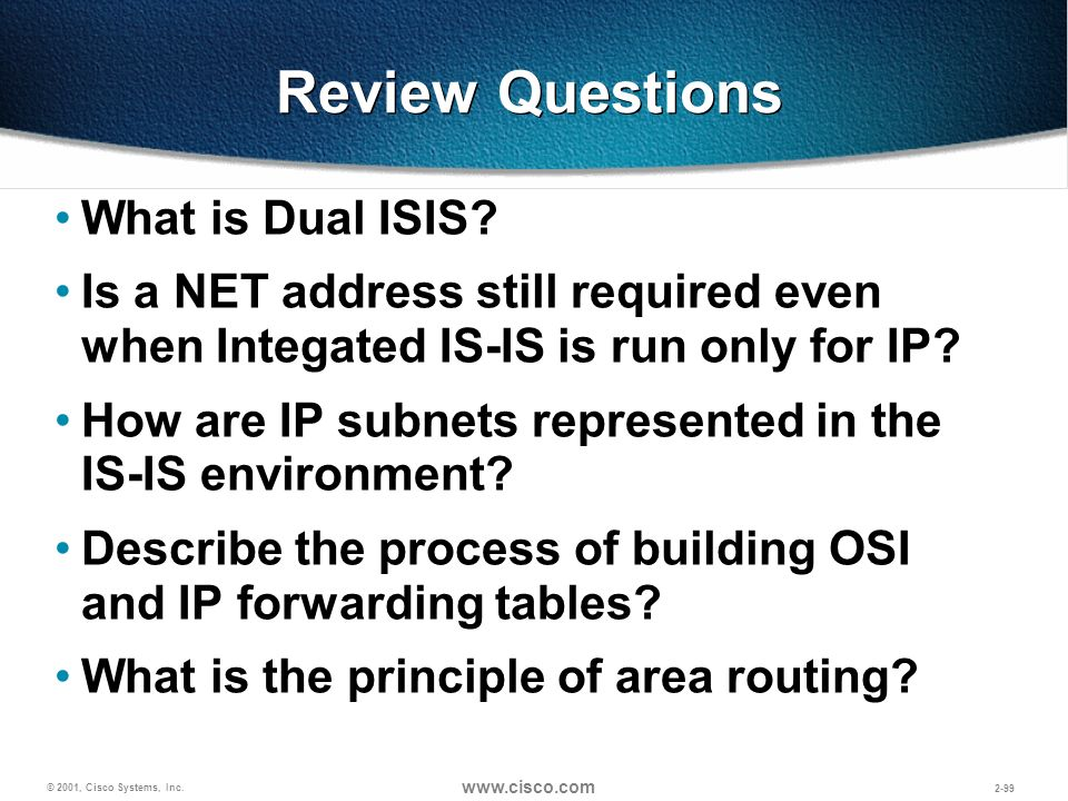 Review Questions What is Dual ISIS