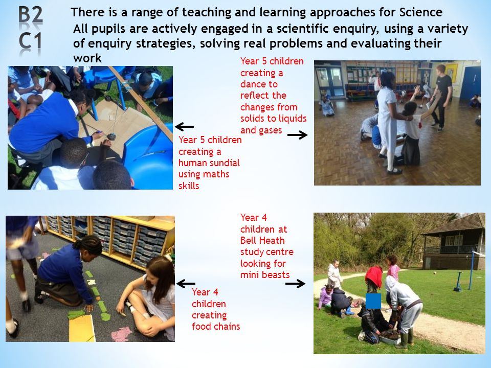 B2 C1 There is a range of teaching and learning approaches for Science