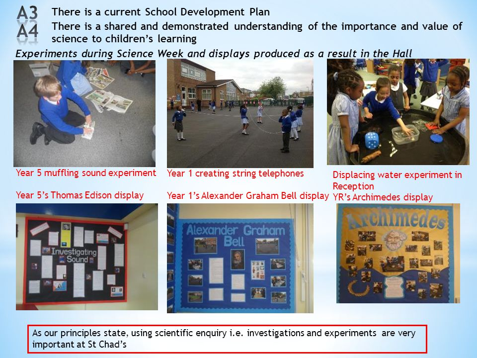 A3 A4 There is a current School Development Plan