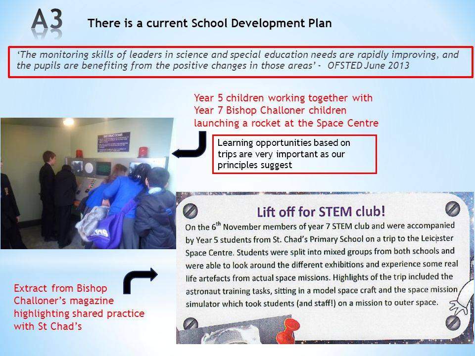 A3 A3 There is a current School Development Plan
