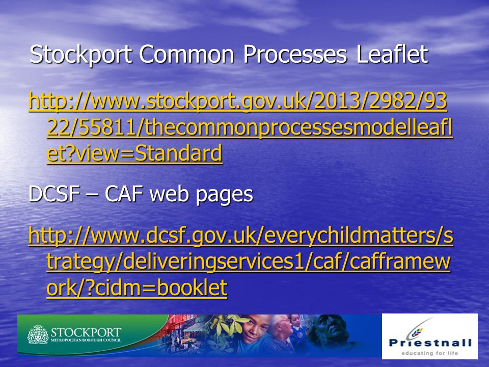 Stockport Common Processes Leaflet