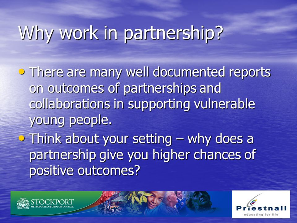 Why work in partnership