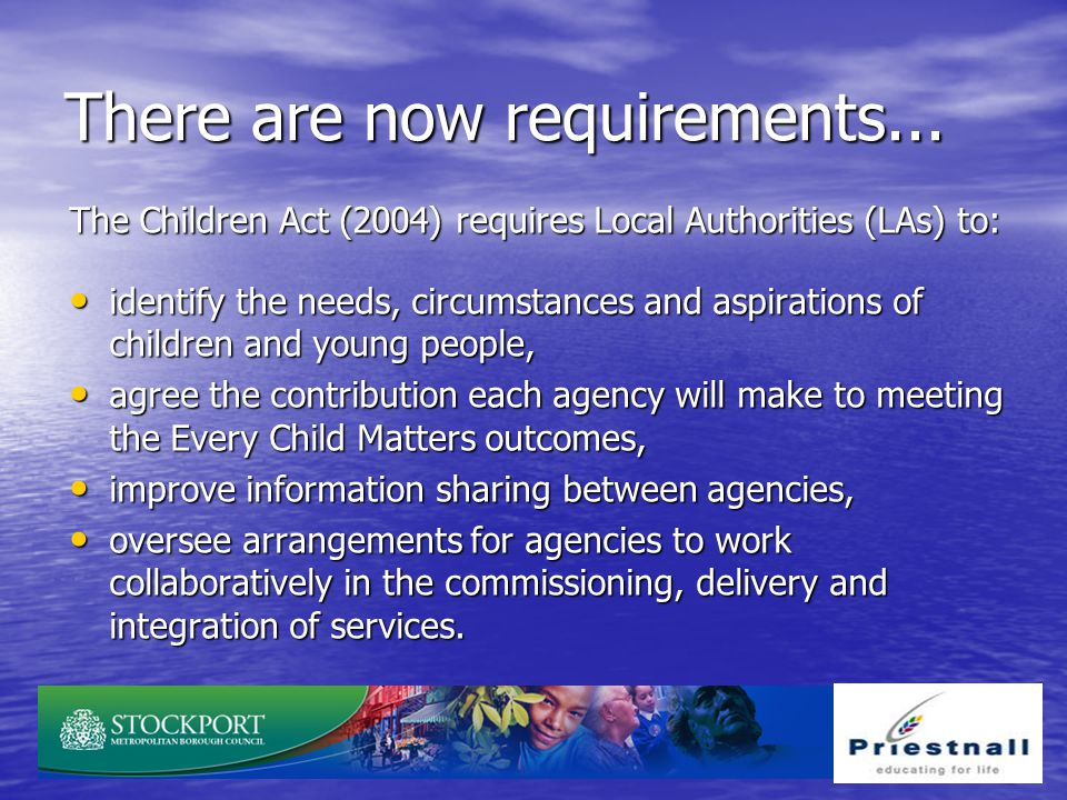 There are now requirements...
