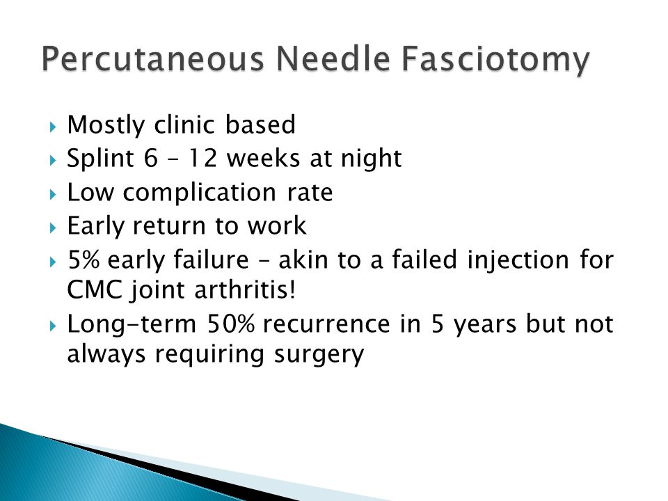 Percutaneous Needle Fasciotomy