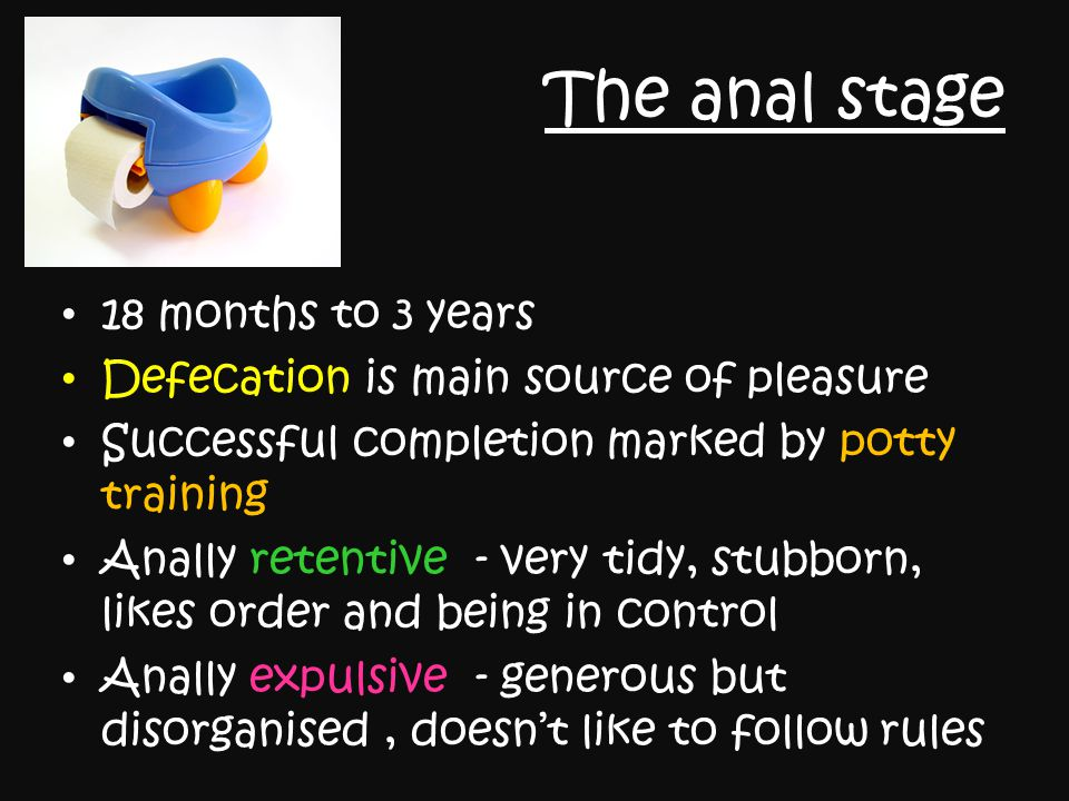 The anal stage 18 months to 3 years