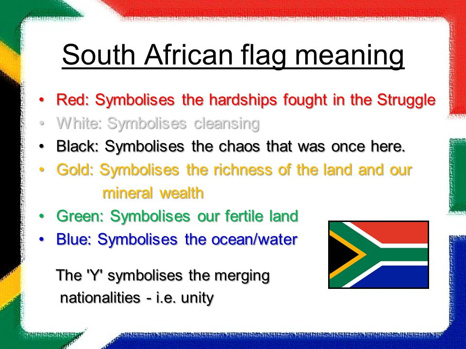 South African flag meaning