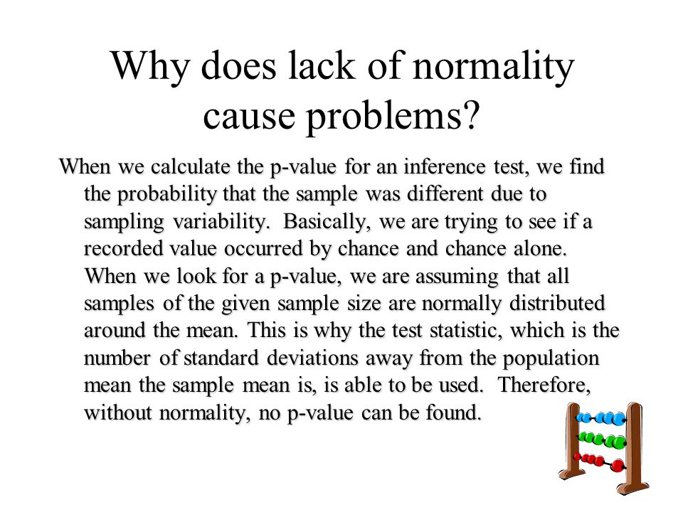 Why does lack of normality cause problems
