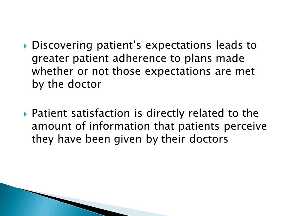 Discovering patient's expectations leads to greater patient adherence to plans made whether or not those expectations are met by the doctor