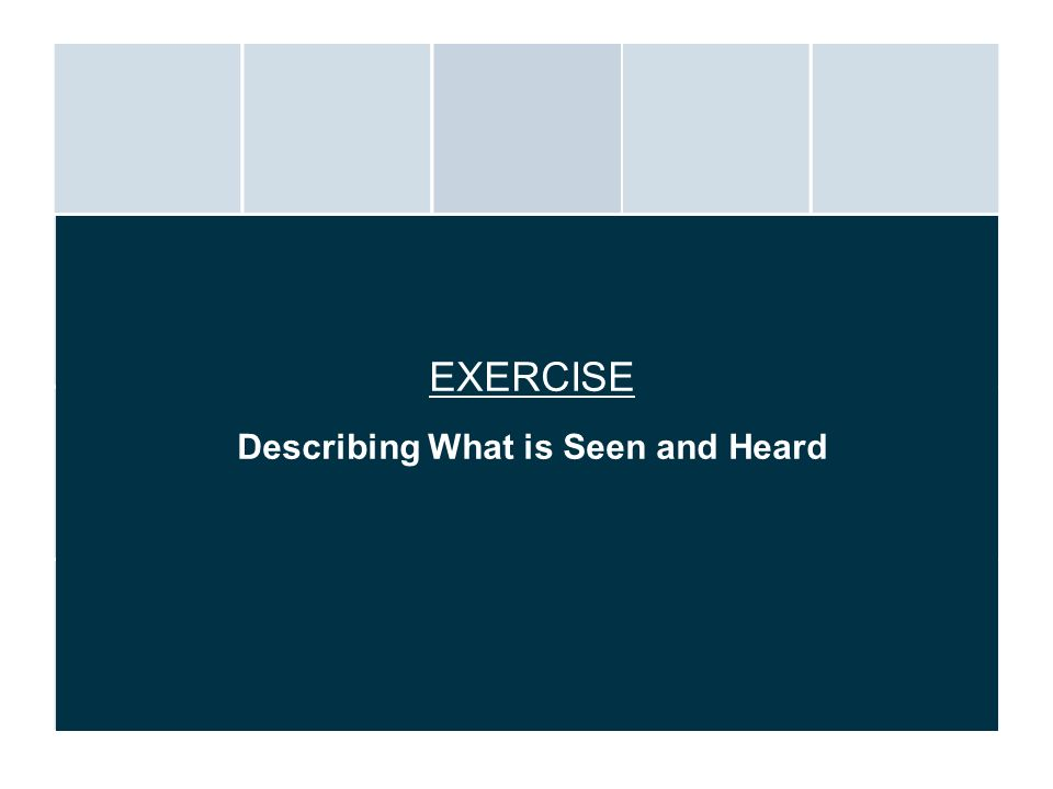Describing What is Seen and Heard