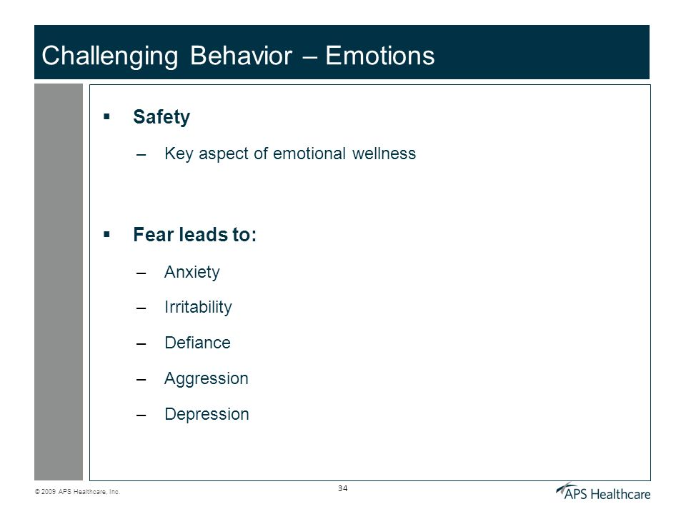 Challenging Behavior – Emotions