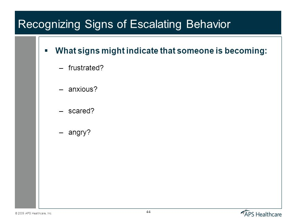 Recognizing Signs of Escalating Behavior