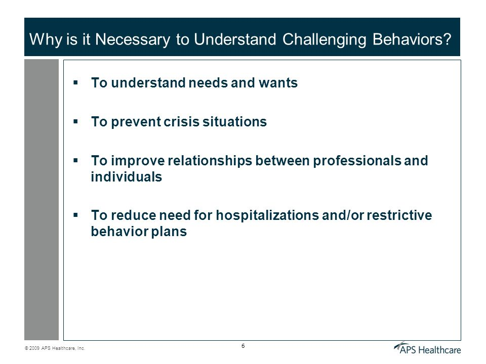 Why is it Necessary to Understand Challenging Behaviors