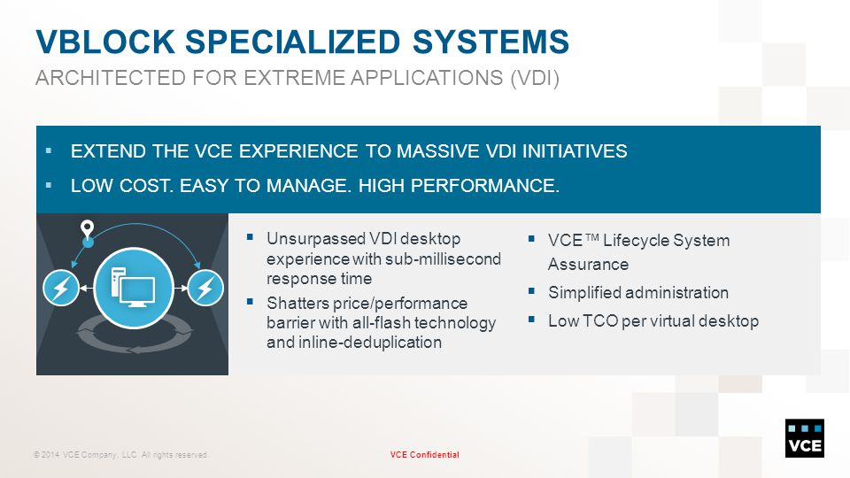 VBLOCK specialized systems