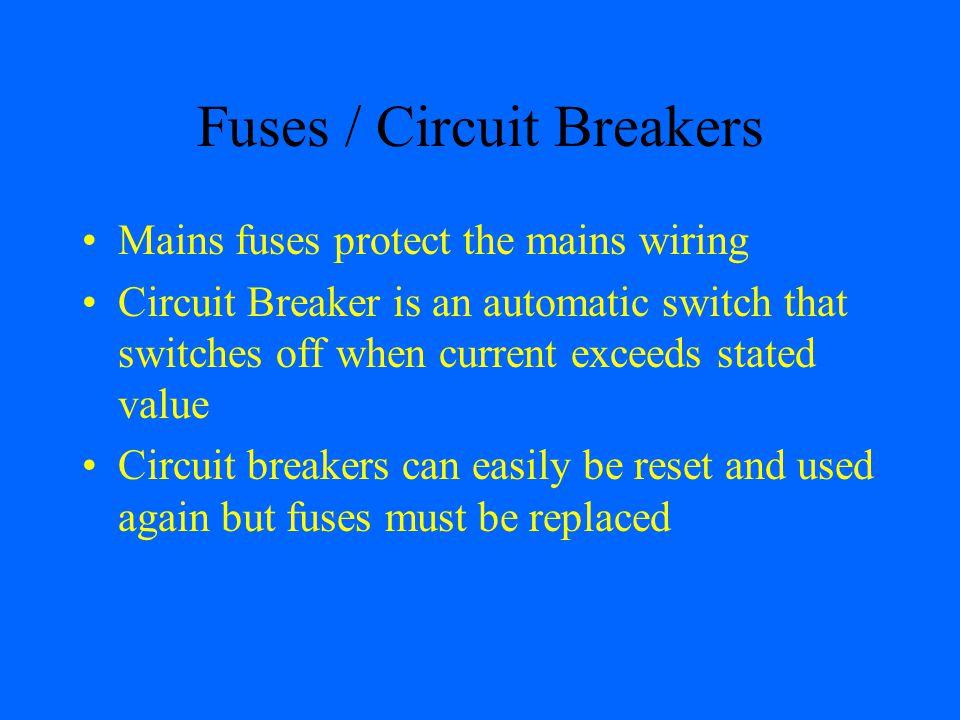 Fuses / Circuit Breakers