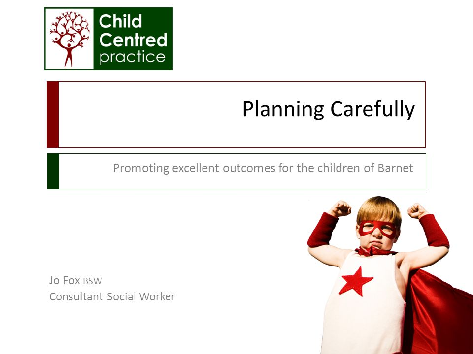 Promoting excellent outcomes for the children of Barnet