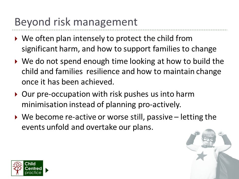Beyond risk management
