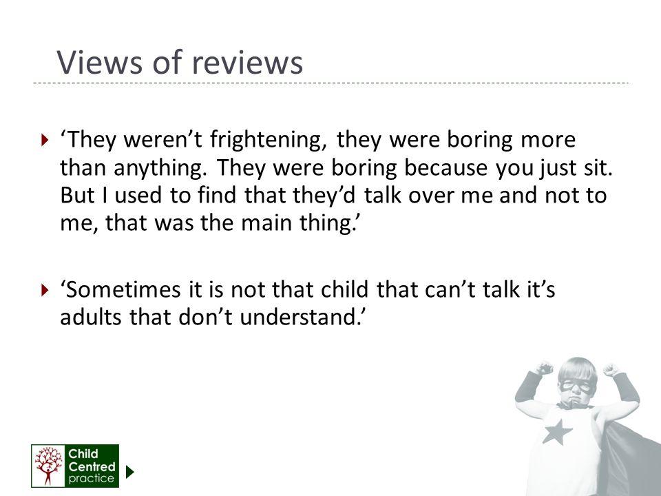 Views of reviews
