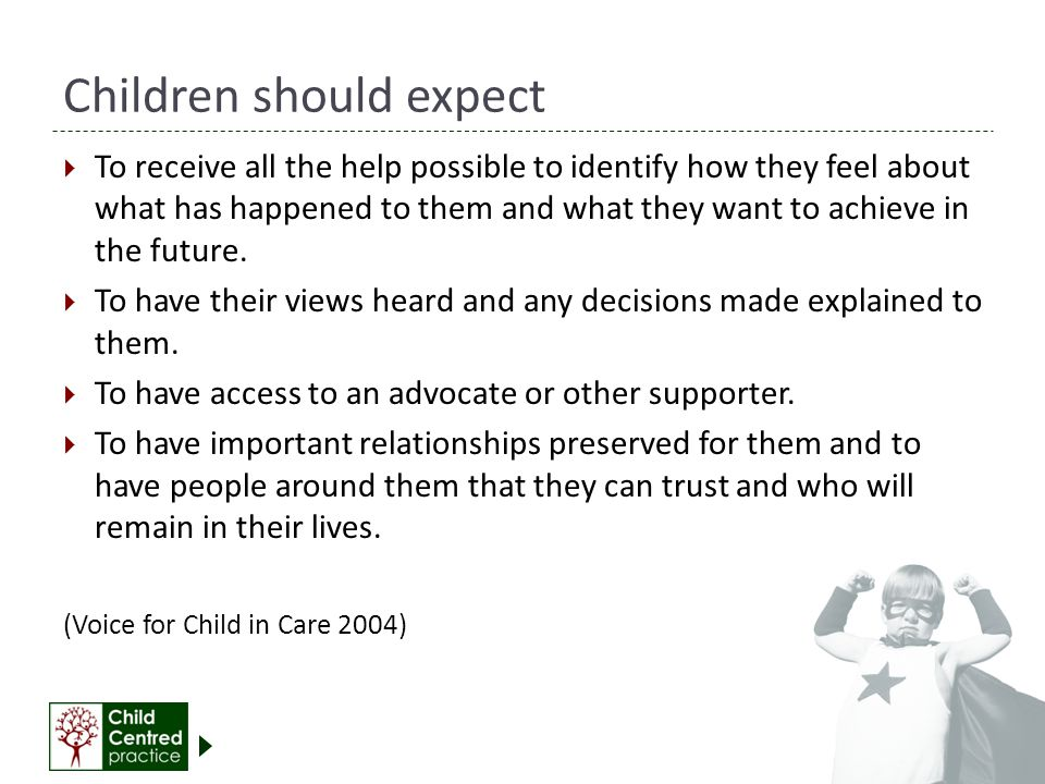 Children should expect