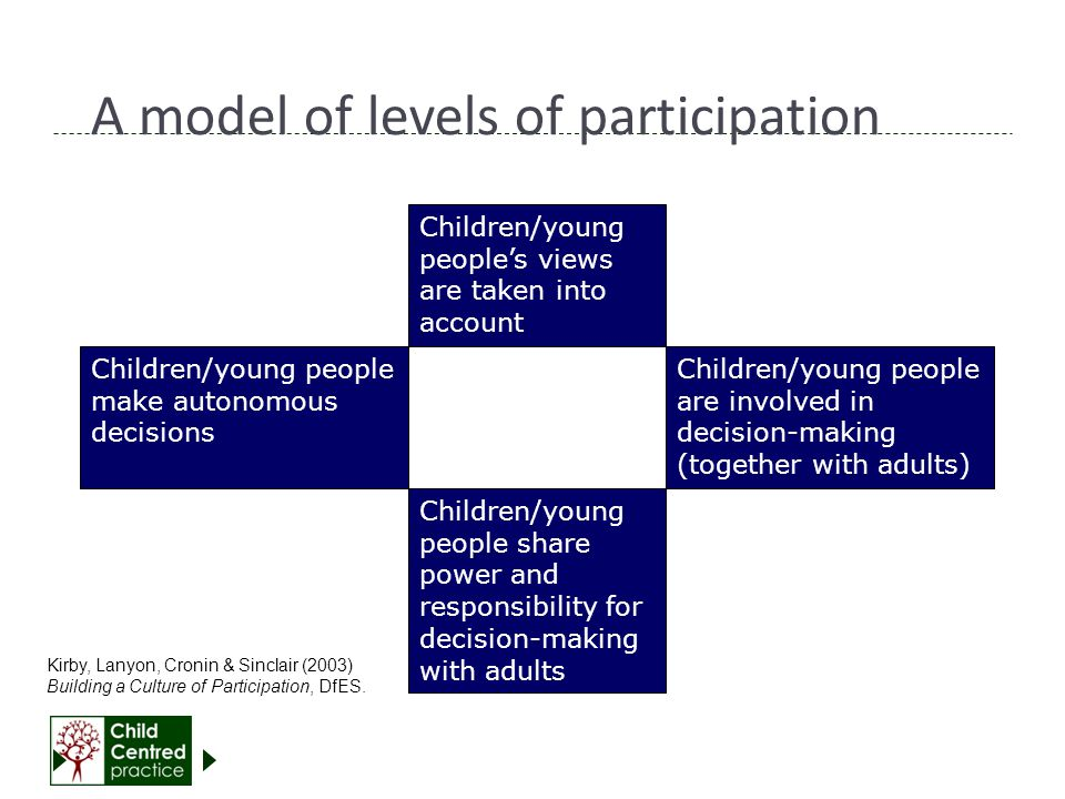 A model of levels of participation