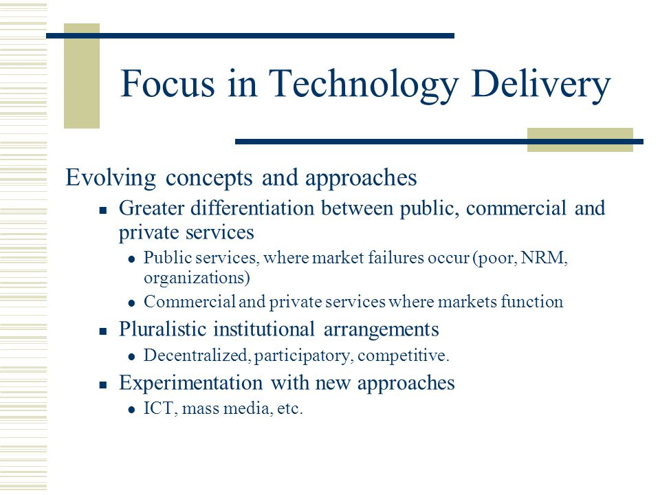 Focus in Technology Delivery