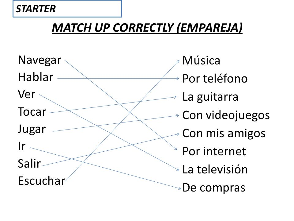 MATCH UP CORRECTLY (EMPAREJA)