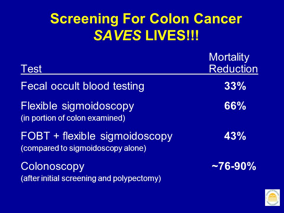 Screening For Colon Cancer SAVES LIVES!!!