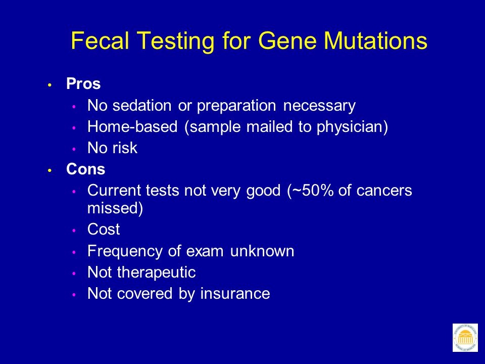 Fecal Testing for Gene Mutations