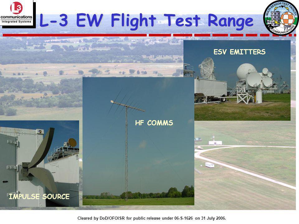 L-3 EW Flight Test Range ESV EMITTERS HF COMMS IMPULSE SOURCE