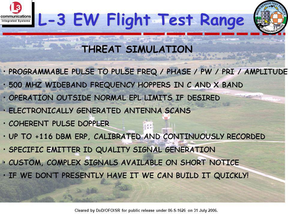 L-3 EW Flight Test Range THREAT SIMULATION