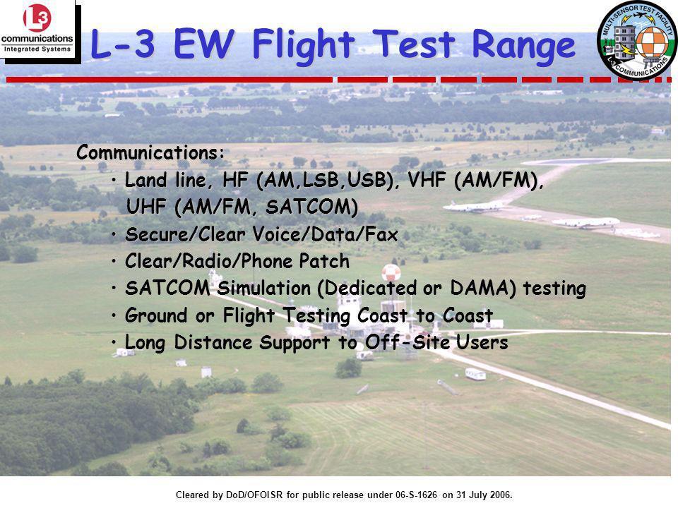L-3 EW Flight Test Range Communications: