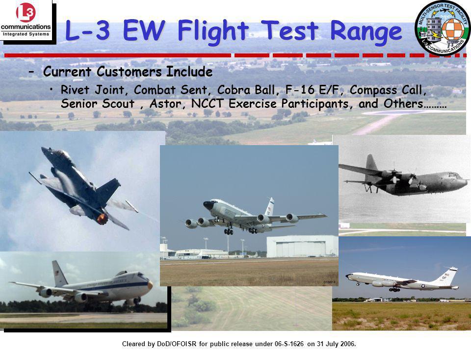 L-3 EW Flight Test Range Current Customers Include
