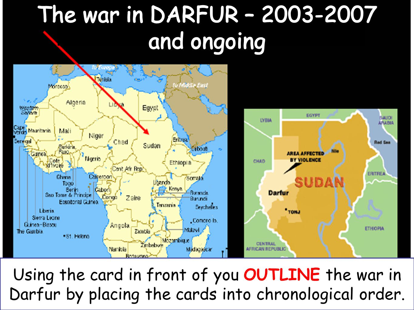 The war in Darfur is a CIVIL WAR in the west of Sudan.