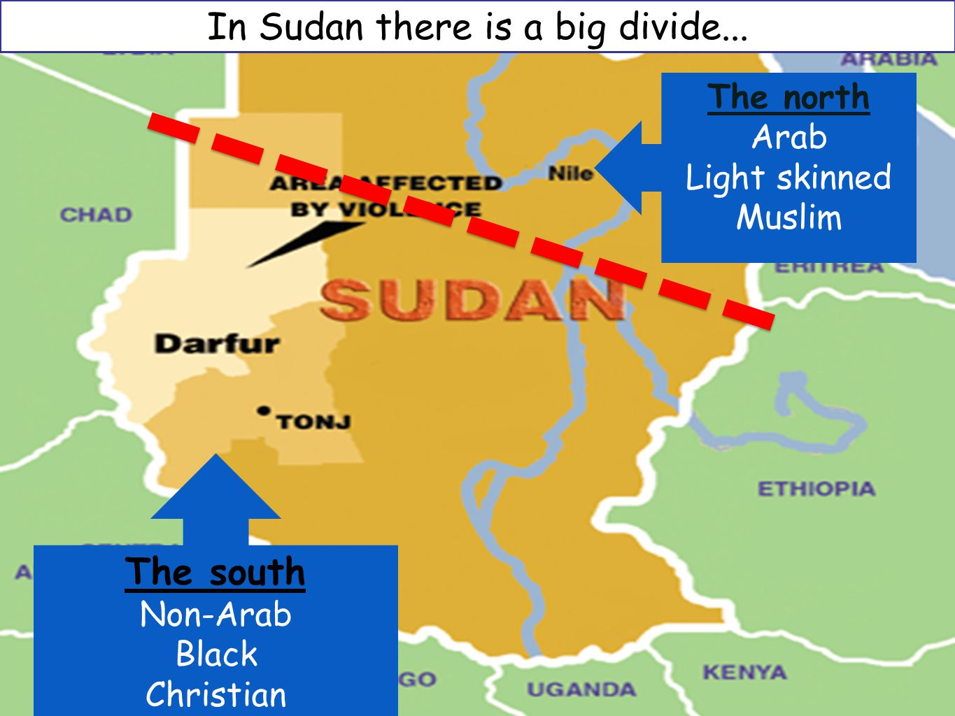 In Sudan there is a big divide...