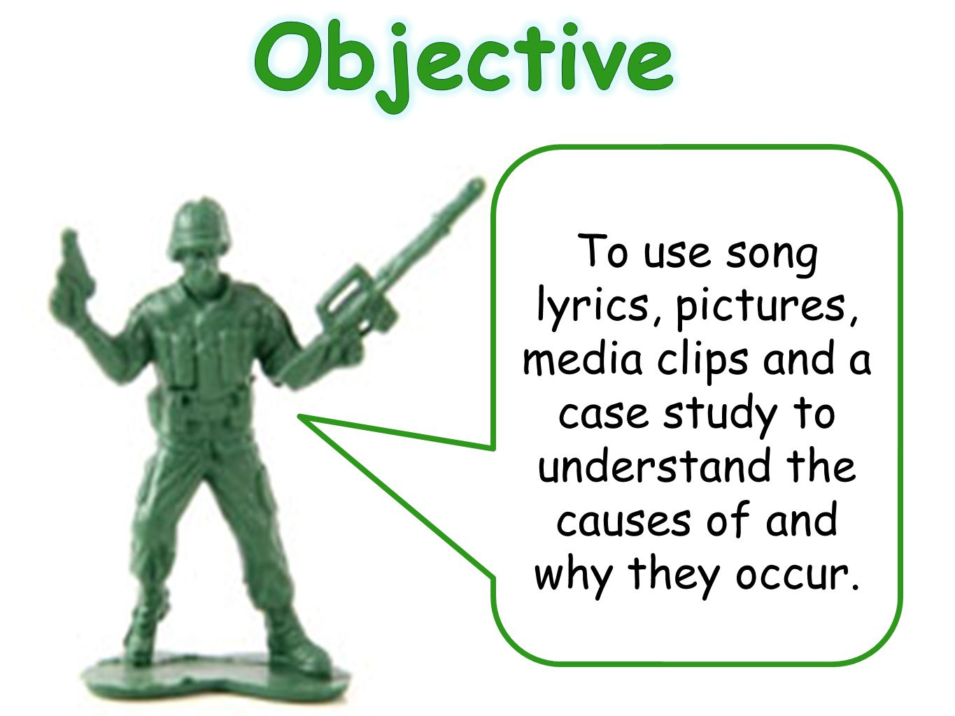 Objective To use song lyrics, pictures, media clips and a case study to understand the causes of and why they occur.