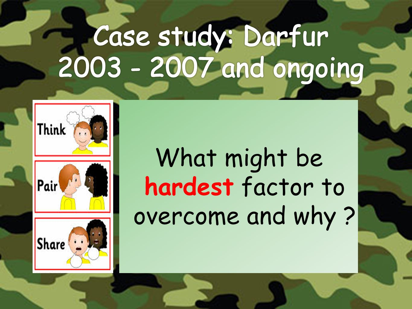 Case study: Darfur 2003 - 2007 and ongoing