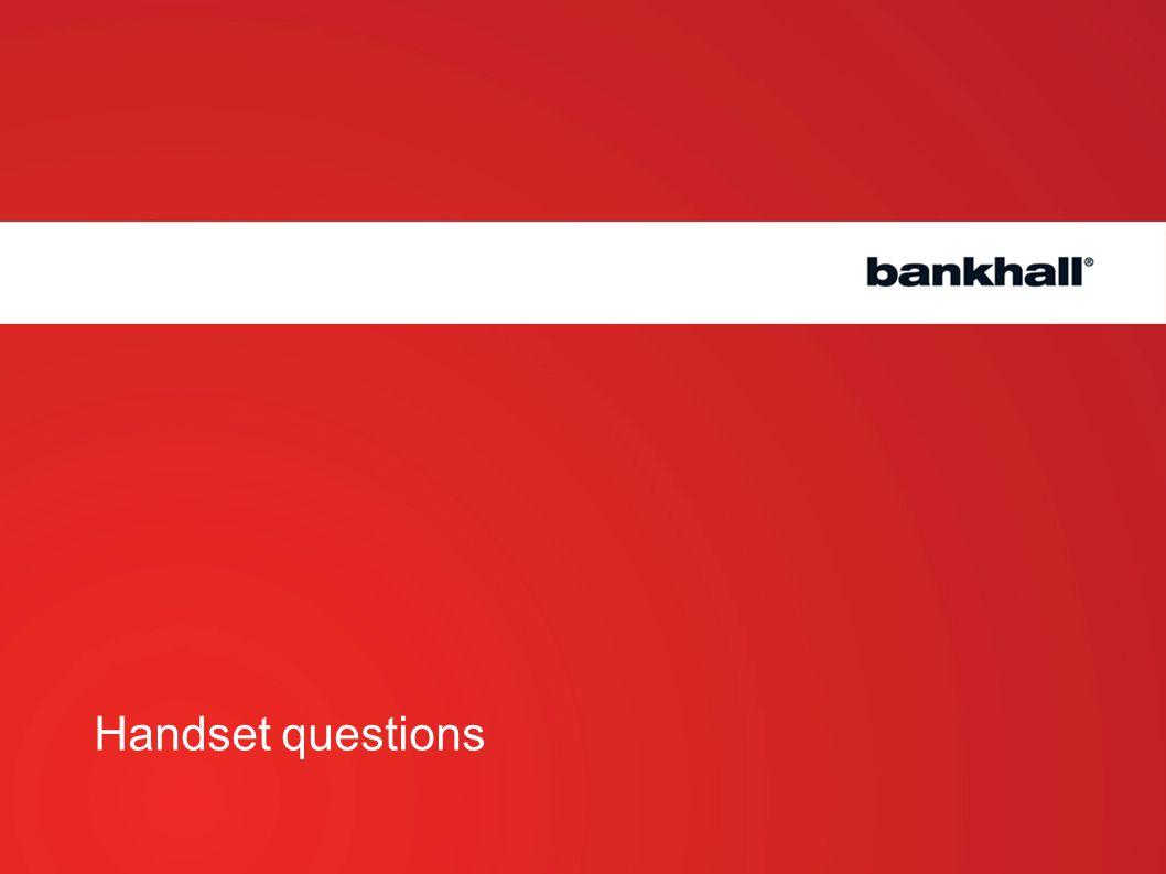 Handset questions