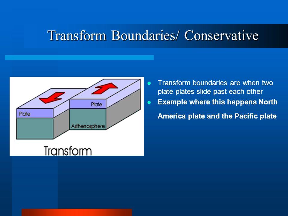 Transform Boundaries/ Conservative