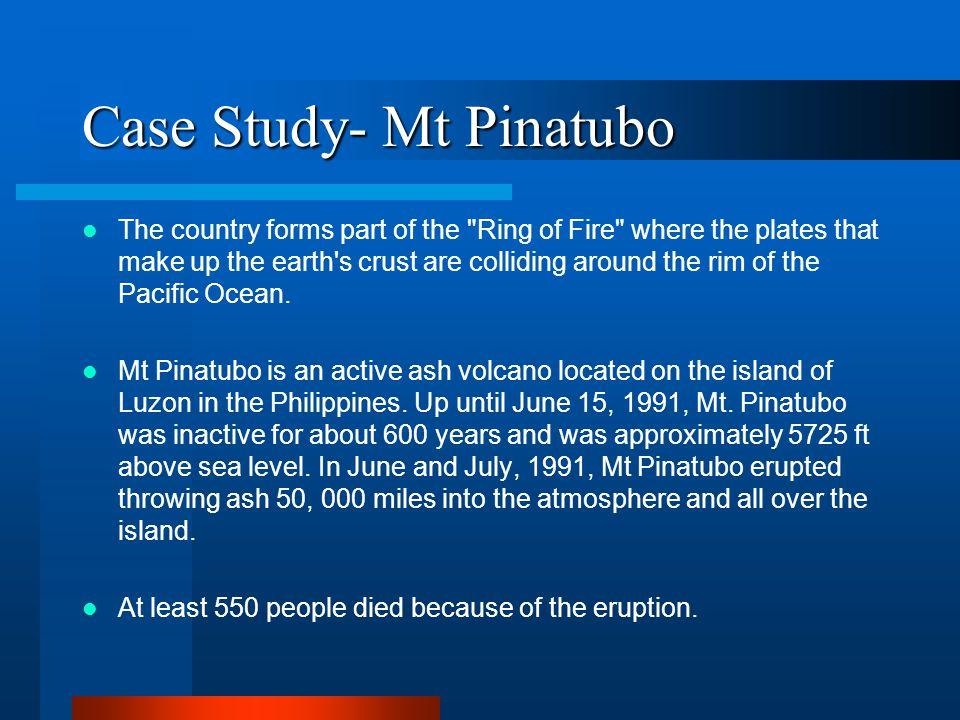 Case Study- Mt Pinatubo