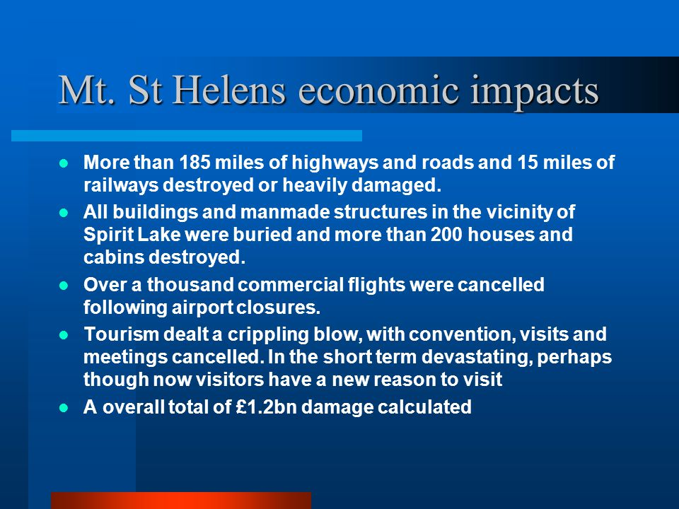 Mt. St Helens economic impacts