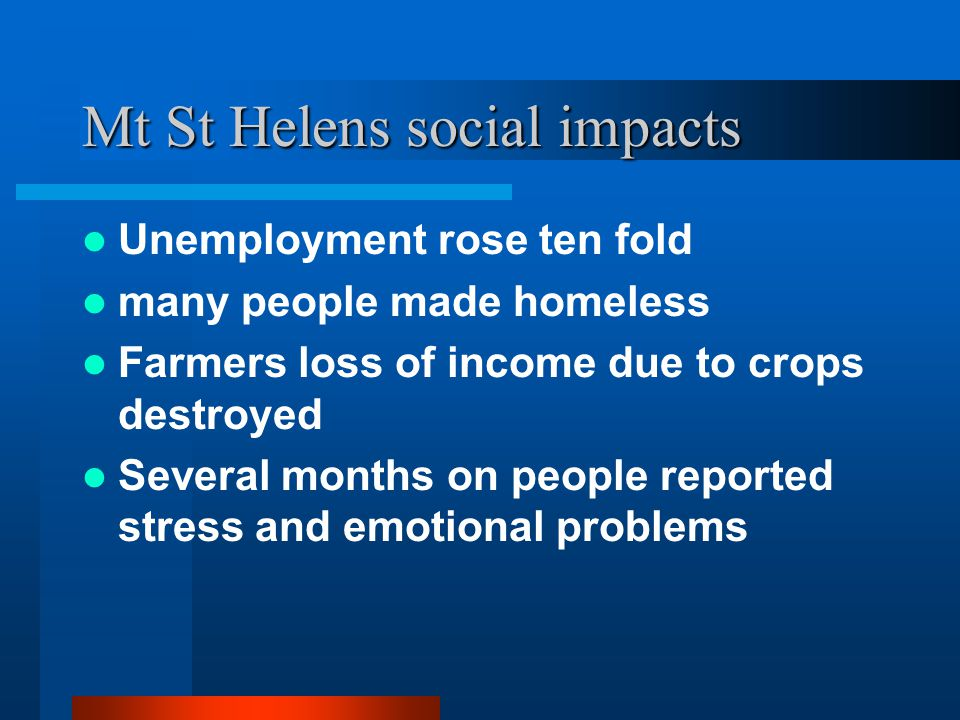 Mt St Helens social impacts